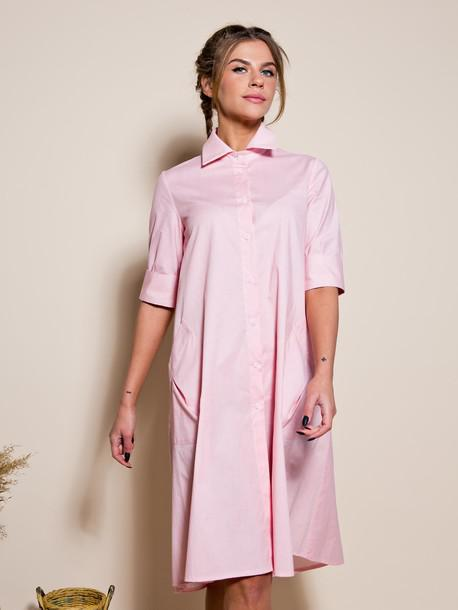 Платье-рубашка с широким кроем